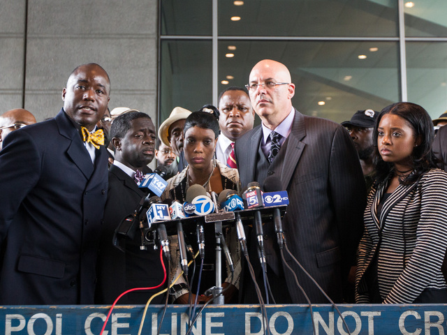 <p>Franclot Graham, father of Ramarley Graham, and the slain teenager&#39;s mother Constance Malcolm with Attorney Jeff Emdin at the Bronx Supreme Court on June 13, 2012.</p>