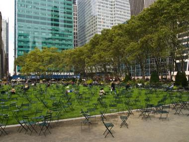 The epic musical chairs game will involve a dwindling number of Bryant Park's iconic chairs.
