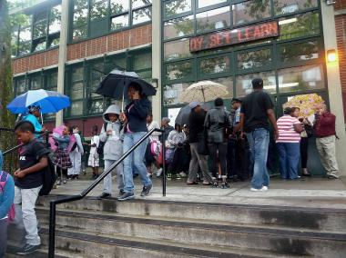 Dismissal at P.S. 132 in the Bronx, a day after a slashing occurred between an 8-year-old and a 9-year-old on June 12, 2012.