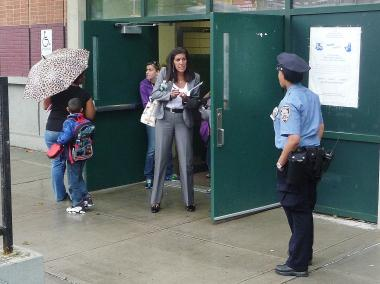 P.S. 132 at dismissal time on June 13, 2012, a day after a slashing between an 8- and 9-year-old.
