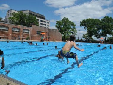 In Staten Island, the city's public pool Lyons Pool is a popular destination. McCarren Pool will join the the city's public pool line-up come Thursday.