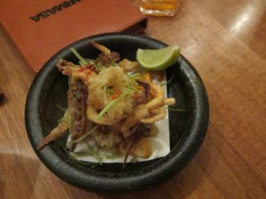 Fried calamari at Bar Masa in the Time Warner Center. Rafael Thomas was indicted Jan. 17, 2013 on charges he stole about $96,000 from Masa while working as the eatery's bookkeeper.