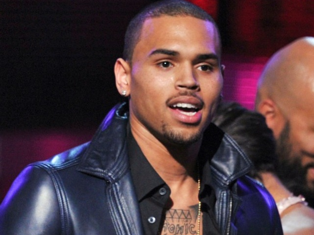 The R&B singer Chris Brown reportedly left a Hudson Square nightclub June 14, 2012 with a gash in his chin from a bar fight.