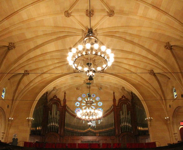 The Brown Memorial sanctuary ceiling was recently restored.
