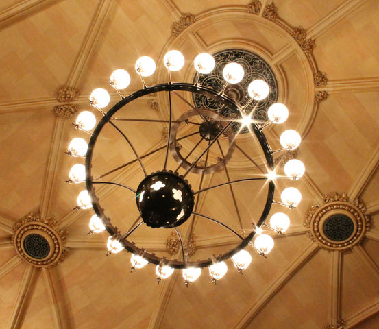 The Chandeliers in the Brown Memorial sanctuary have been re-wired and restored.