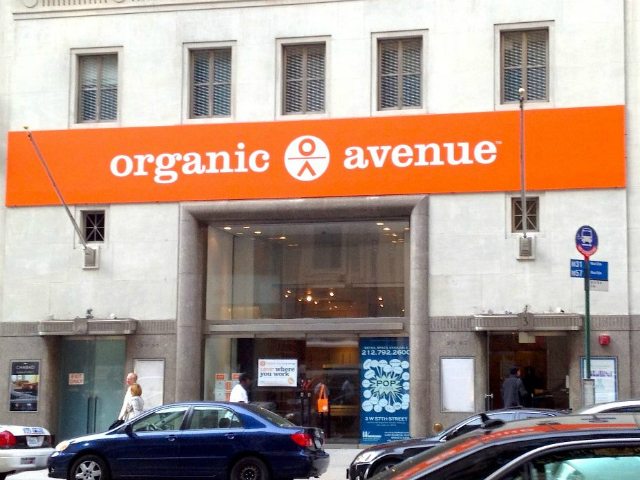 Organic Avenue has opened a pop-up shop on West 57th Street between Fifth and Sixth avenues.