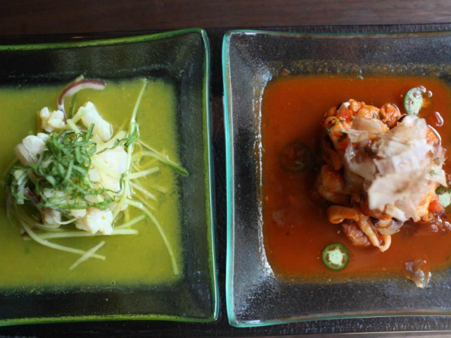 Sandoval's new restaurant Raymi centers around a ceviche bar.