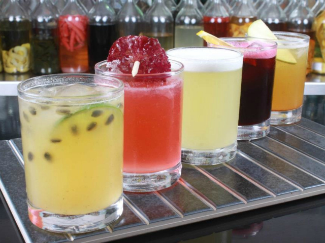 Sandoval's newest restaurant, Raymi, also features a Pisco bar, with 30 varieties of the fiery liqueur.