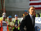 President Obama Thanks Workers Rebuilding World Trade Center