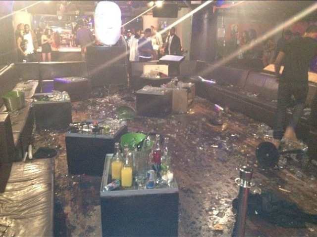 The WIP nightclub after a bottle-throwing brawl June 14, 2012.