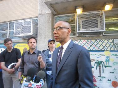 Schools Chancellor Dennis Walcott met for more than an hour with parents at P.S. 208 in Harlem Friday morning to try and assure them that the school was safe after a well-liked teacher was charged with sexual abuse of an 8-year-old girl.