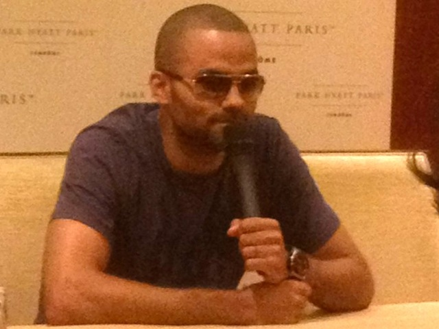 NBA star Tony Parker told TMZ.com he was hit in the eye with glass shards at WIP. He was spotted wearing sunglasses in France June 15, 2012.