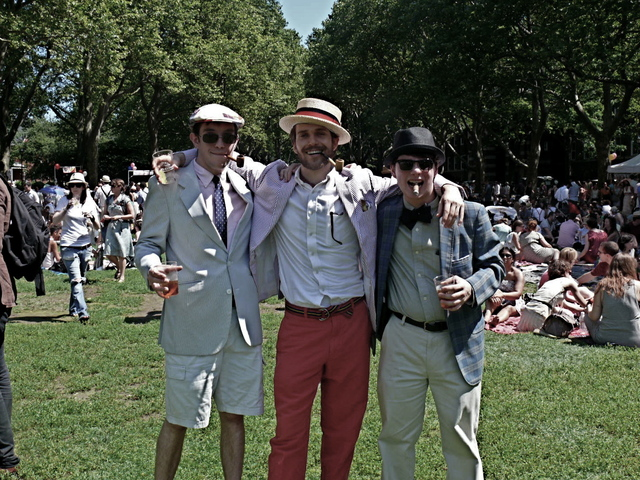 Stylish preppy spirit meets vintage styling on Matthew B., Jeremy B. and Zack S