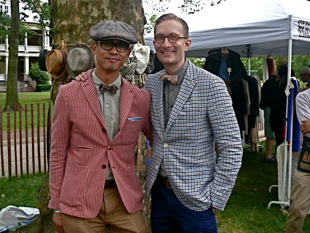 Enrique Crame III and Matthew Fox of  the Fine and Dandy Shop