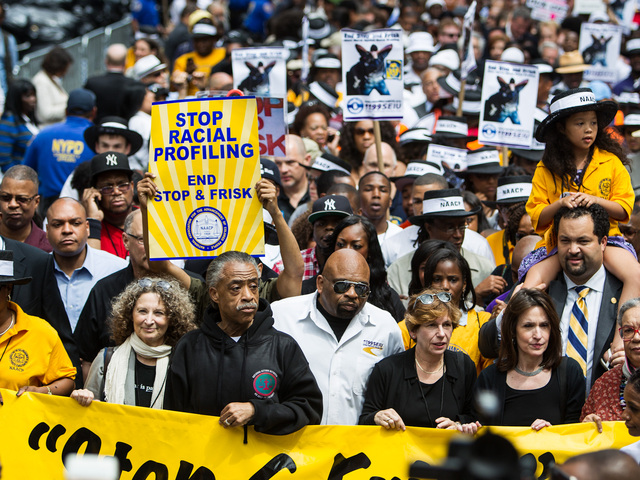 The Rev. Al Sharpton leads the Silent March down 5th Ave on June 17th, 2012.