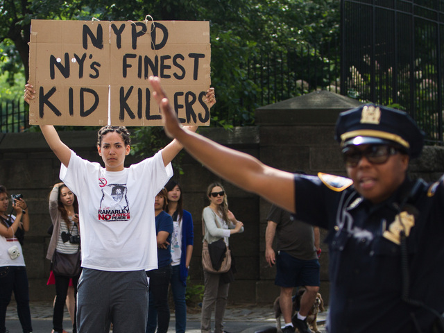 A protestor at the first Silent March against NYPD Stop-and-Frisk policy on June 17th, 2012.