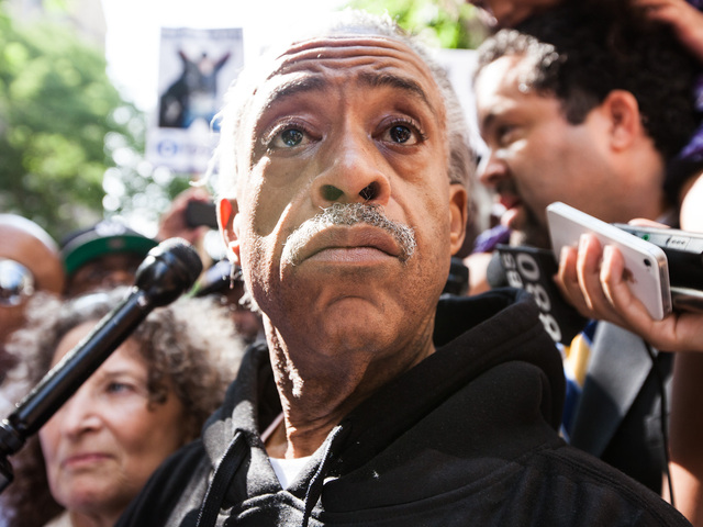 The Rev. Al Sharpton participates in an anti-stop-and-frisk rally near NYC Mayor's Michael Bloomberg residence on 79th St., and Madison Ave on June 17th, 2012.