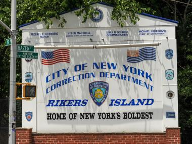 Eight Department of Correction officers were hurt in two scuffles on Rikers Island Dec. 27, 2012, officials said.