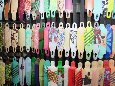 Patrons can get custom designs on their longboards at the Longboard Loft on Allen Street.