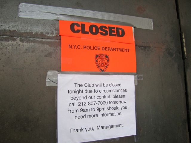The unmarked Hudson Square club WIP was closed June 16 for unspecified violations.