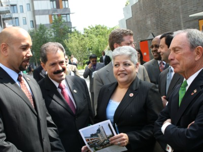 Congressman Jose Serrano (second from left).