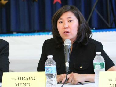 Assemblywoman Grace Meng speaks at a congressional debate on June 18.