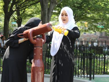 tudents from Park Slope's Al-Madinah School tried to relax at J.J. Byrne playground before a chemistry Regents exam on Wednesday.