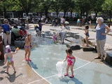 City Parks officials and Bronx leaders cut the ribbon on the new construction at Shoelace Park on Wednesday, July 18.