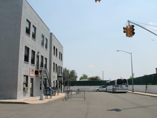 <p>The elaborate street scape that was built for NYPD training.</p>