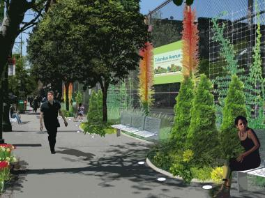 The Columbus Avenue BID is designing a streetscape to cover part of the avenue that's considered an eyesore.