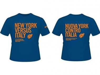 Greenwich Village Little League printed special English-Italian t-shirts in preparation for a game with Italian players Friday, June 22, 2012.