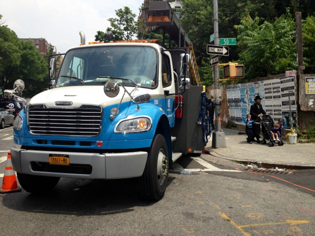 Con Ed had an outreach van at 50th Street between 14th and 15th avenues in Borough Park to help residents with any issues until power there was restored.