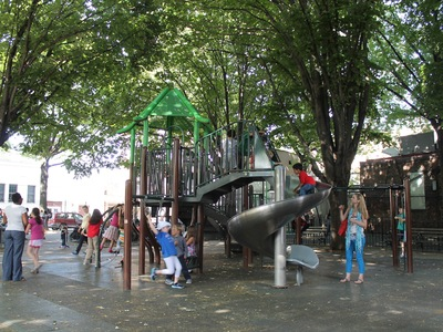 Andrews Grove Playground has many trees and shrubs