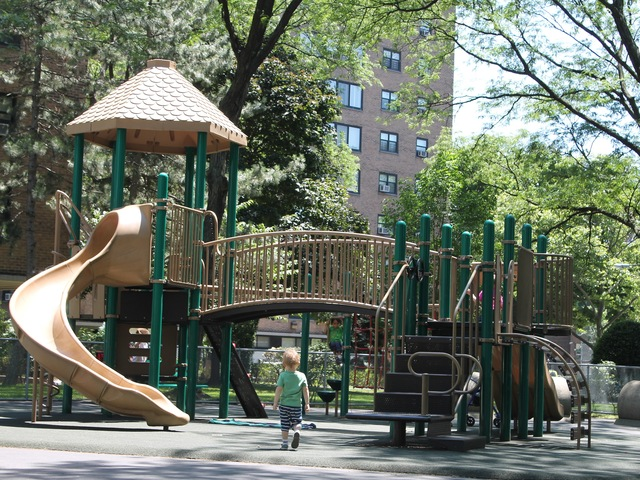 North Queensview Playground is great for small children, parents say.