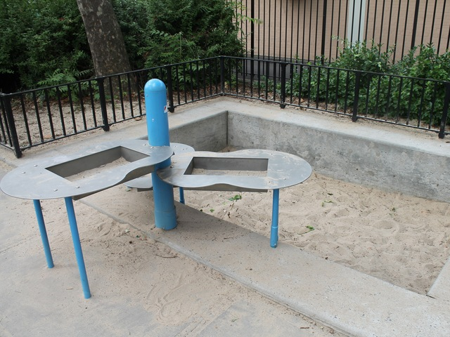 Sandbox at Athens Square playground.