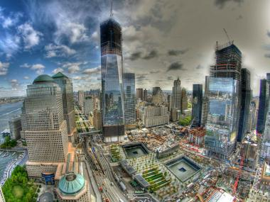 One World Trade Center, left, shown in April 2012, is now more than 55 percent leased.