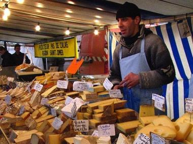 Like any good French market, the Chelsea Triangle food fair will have a huge variety of cheese.