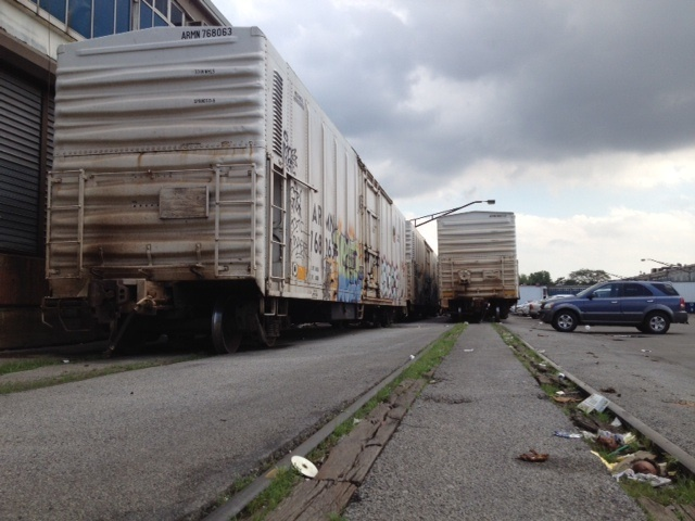 The federal government offered a $10 million grant in June 2012 that will likely replace rail tracks such as these at the Hunts Point Terminal Market.