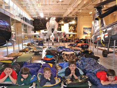 Space-obsessed kids will have a chance to spend the night on the space shuttle Enterprise in summer 2012 at the Intrepid Sea, Air & Space Museum.