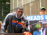 Knicks Stars Warn Bikers and Pedestrians to Travel Safely