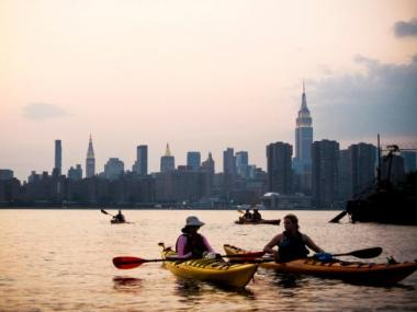 There is nothing quite like the view of New York while paddling on the East River, kayaking enthusiasts agree.