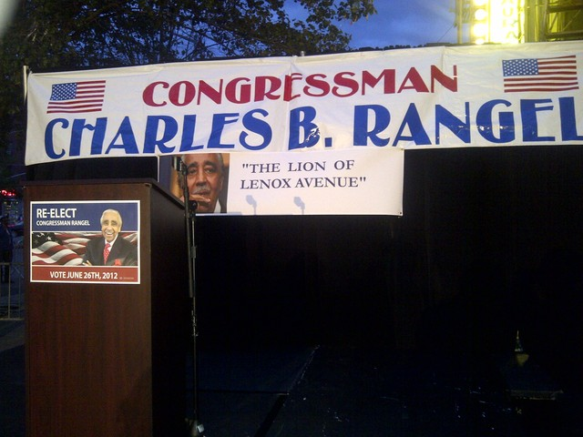 Rep. Rangel is set to address supporters late Tuesday.