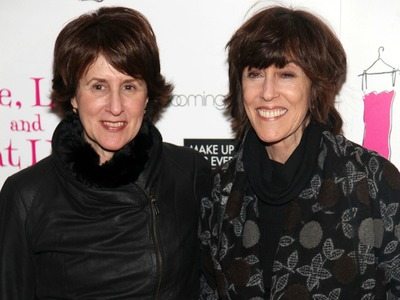 Delia Ephron and Nora Ephron attend the 'Love, Loss, and What I Wore' 500th performance celebration at B Smith's Restaurant on January 13, 2011 in New York City.