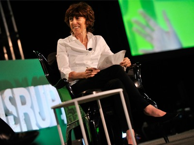 Nora Ephron during TechCrunch Disrupt New York May 2011 at Pier 94 on May 23, 2011 in New York City.