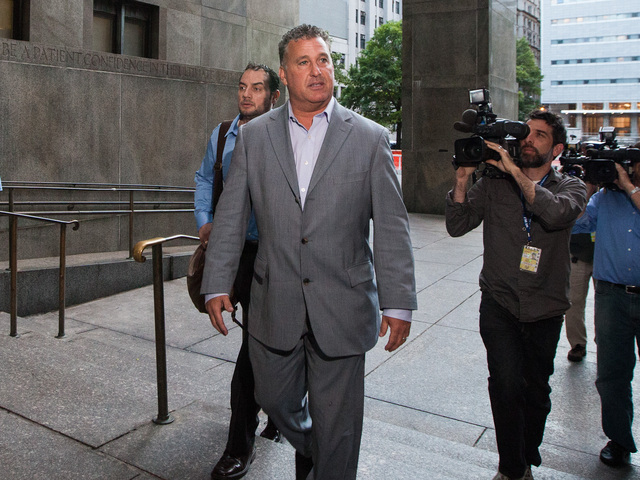 Bail bondsman Ira Judelson arrives at Manhattan Criminal Court for the release of Anna Gristina on June 26, 2012.