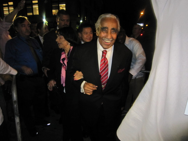 Rep. Charlie Rangel celebrated his recent primary win at Sylvia's Also.
