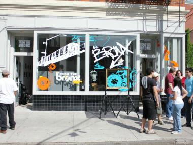 The Bronx pop-up shop spent four days in a vacant storefront in Melrose in May 2011. The company now hopes to open a permanent shop in the Hub.