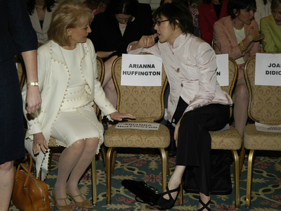 Barbara Walters chats with Nora Ephron.