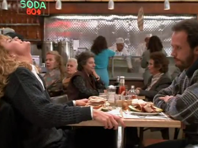 The most famous scene from Nora Ephron's 1989 film