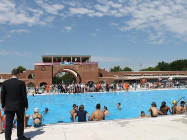 McCarren Park Pool holds 1,500 swimmers.